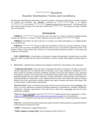 Authorized Distributor Terms  Conditions 1